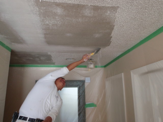 Removing Popcorn Ceiling And Then Painting