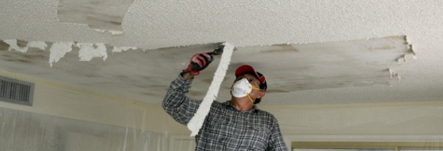 Spokane Popcorn Ceiling Removal Job