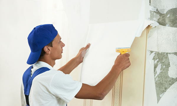 Wall Paper Removal Job